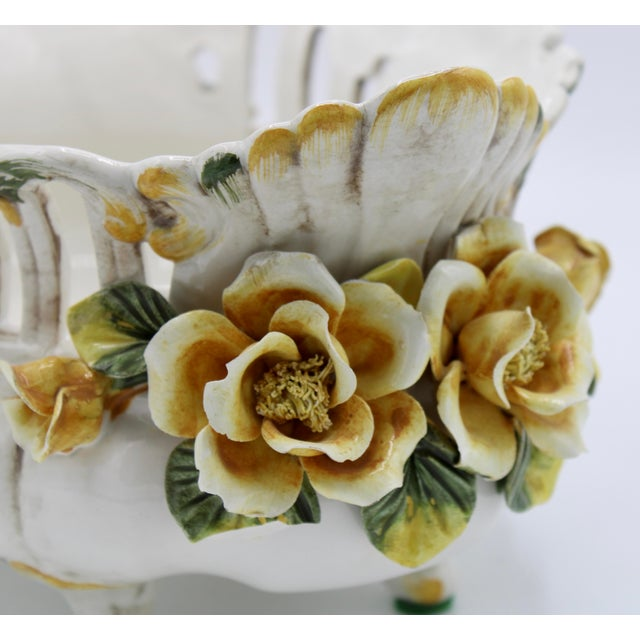 Italian Ceramic Footed Jardiniere For Sale - Image 11 of 13