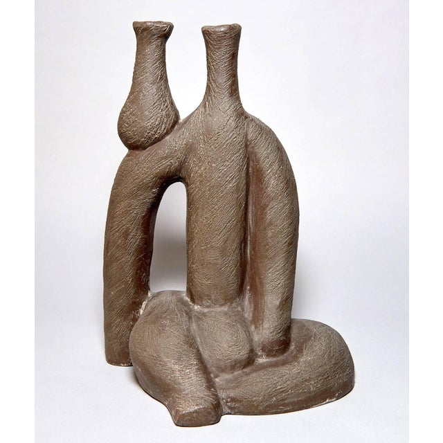 """""""Woman With Vase"""" Ceramic Sculpture by Salvatore Fiume For Sale - Image 9 of 9"""