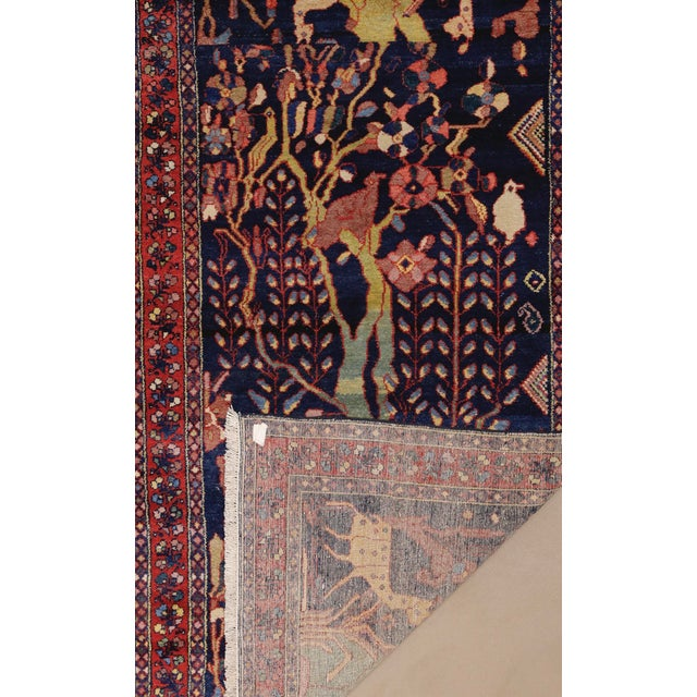 """Antique Persian Lillihan Tree of Life Rug, 4'3"""" X 8'2"""" For Sale - Image 9 of 10"""