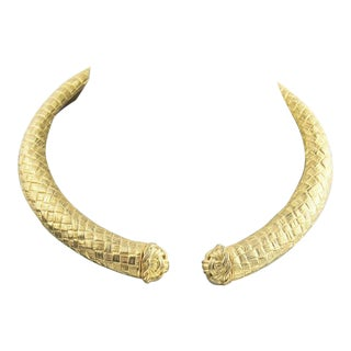 80s Vintage Givenchy Mogul Collar Necklace For Sale