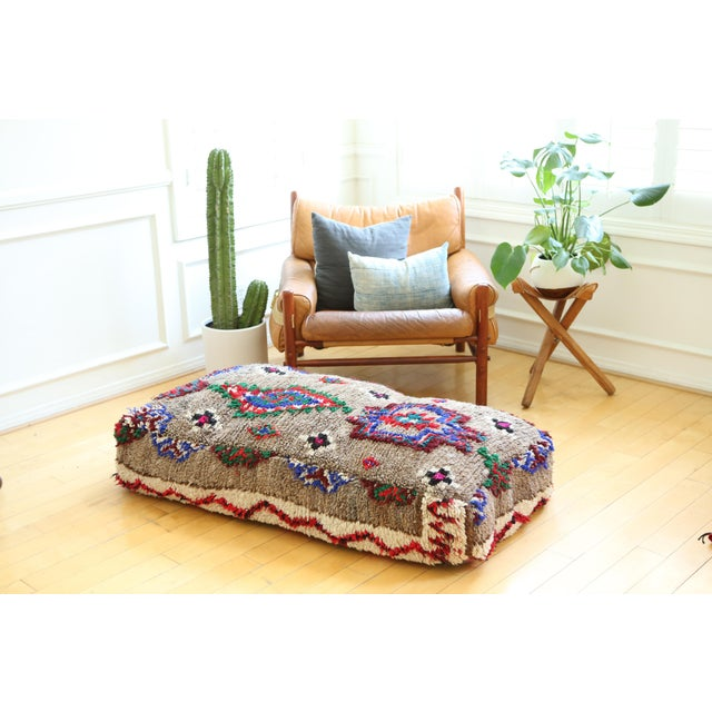 Bring a true vintage Moroccan floor pillow to your BoHo collection. **SOLD UNSTUFFED** This listing is for the cover only....