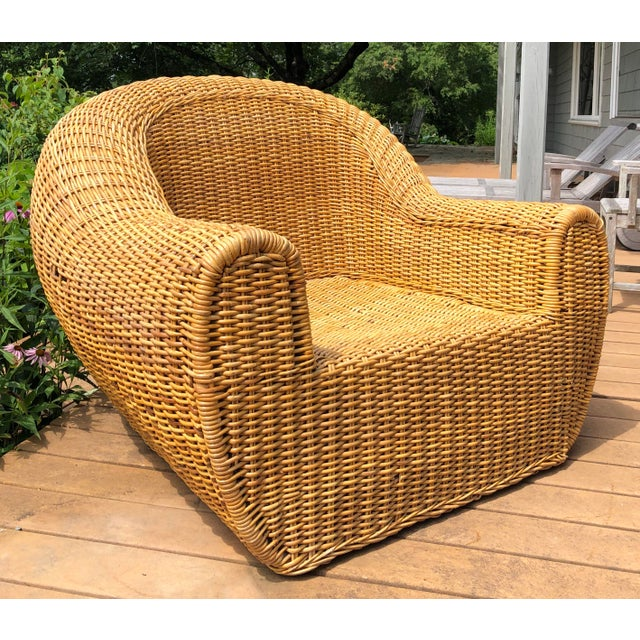 Vintage Wicker Orb Chair For Sale - Image 11 of 13