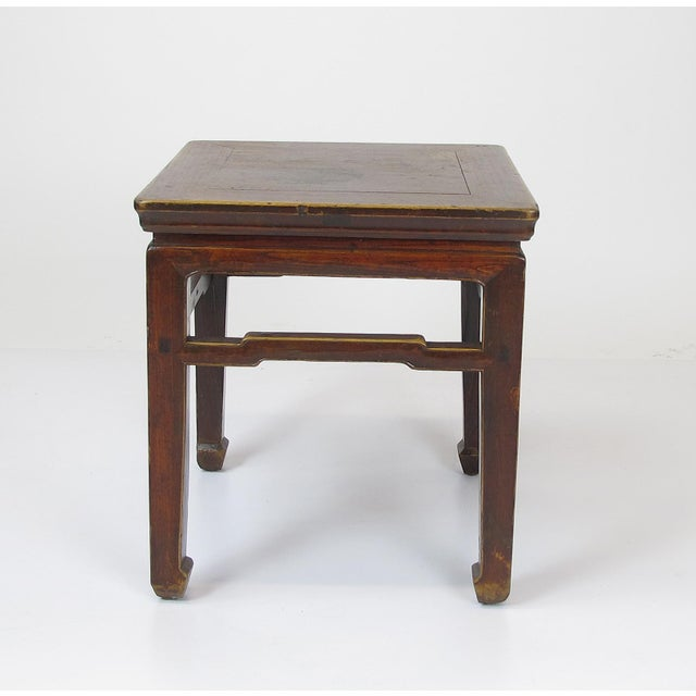 Asian 1900s Vintage Square Stools- a Pair For Sale - Image 3 of 6