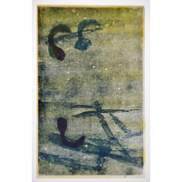 Vintage Libby Newman Oriental Mood II Artist Proof Woodcut - Pencil Signed For Sale - Image 9 of 13