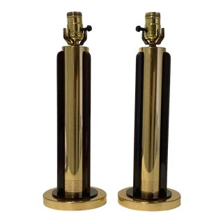 American Art Deco 1920s Chase Streamline Table Lamps - a Pair For Sale