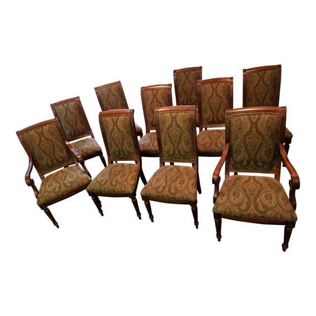 Ethan Allen Townhouse Collection Adison Dining Chairs - Set of 10 For Sale