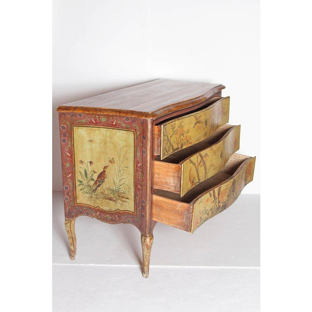 18th Century Italian Painted Commode For Sale - Image 12 of 13