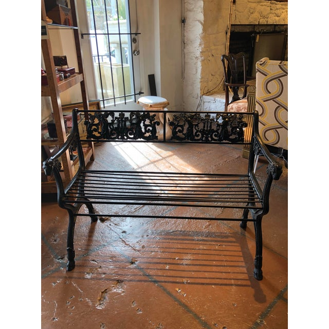 Neoclassical Iron Bench by German Architect Fred Shingle For Sale - Image 13 of 13
