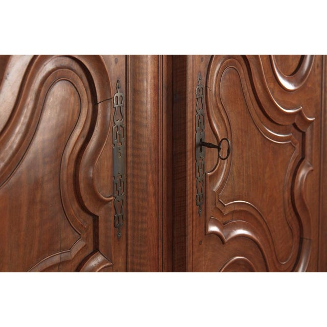 French Louis XV Walnut Armoire, Circa 1800s - Image 7 of 11
