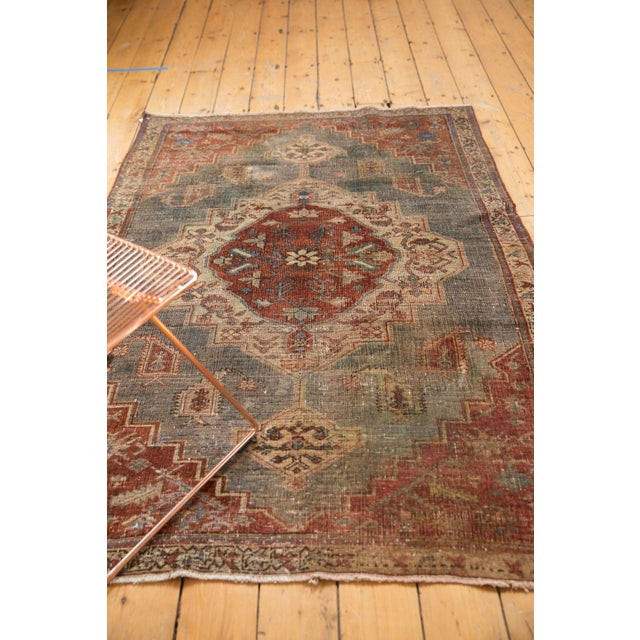 """Vintage Distressed Northwest Persian Rug - 4'3"""" X 6'3"""" For Sale In New York - Image 6 of 13"""