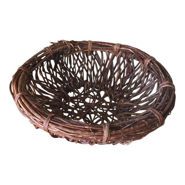 Artisan Wood Branch Nest Basket - Image 1 of 9