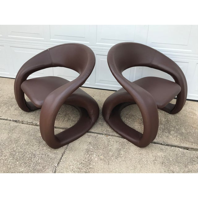 Mid-Century Modern 1990s Vintage Jaymar Memphis Sculptural Cantilever Lounge Chairs - a Pair For Sale - Image 3 of 9