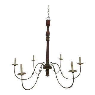 Antique French Post Chandelier