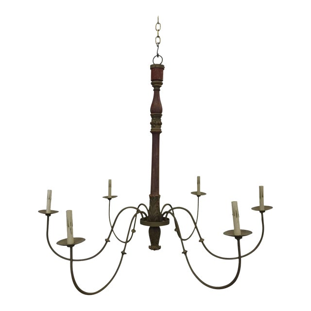 Antique French Post Chandelier - Image 1 of 5