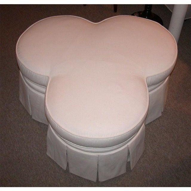 Ivory Clover Shaped Ottoman or Coffee Table - Image 4 of 8