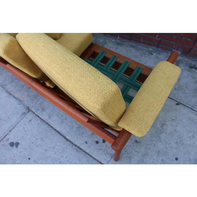 Mid Century Modern Mustard Sofa For Sale - Image 10 of 11