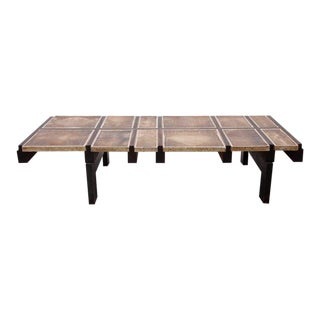 Rare Signed Geometrical Ceramic Coffee Table by Roger Capron For Sale