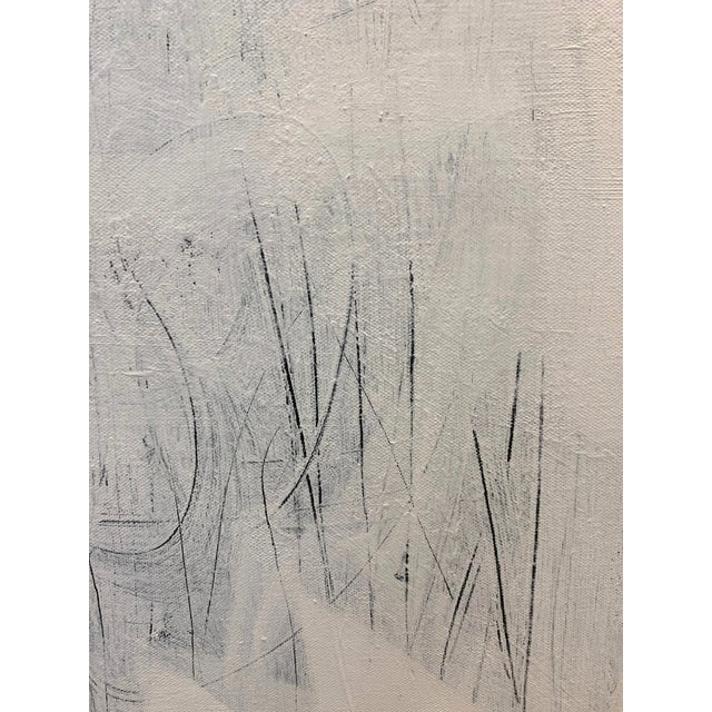 Abstract Original Modern White on White Painting For Sale - Image 3 of 6