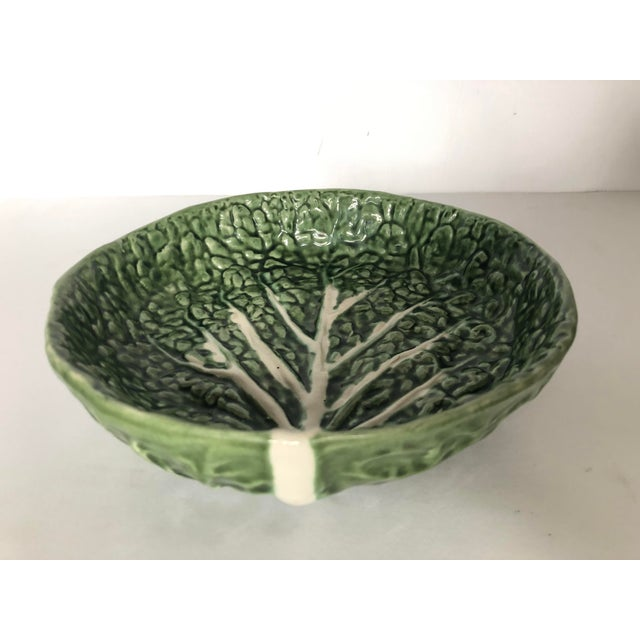 Boho Chic Vintage Faiancas Neto Cabbage Leaf Bowl For Sale - Image 3 of 8