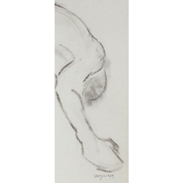 L. Lengyel Curved Nude Drawing, 1979 - Image 2 of 2