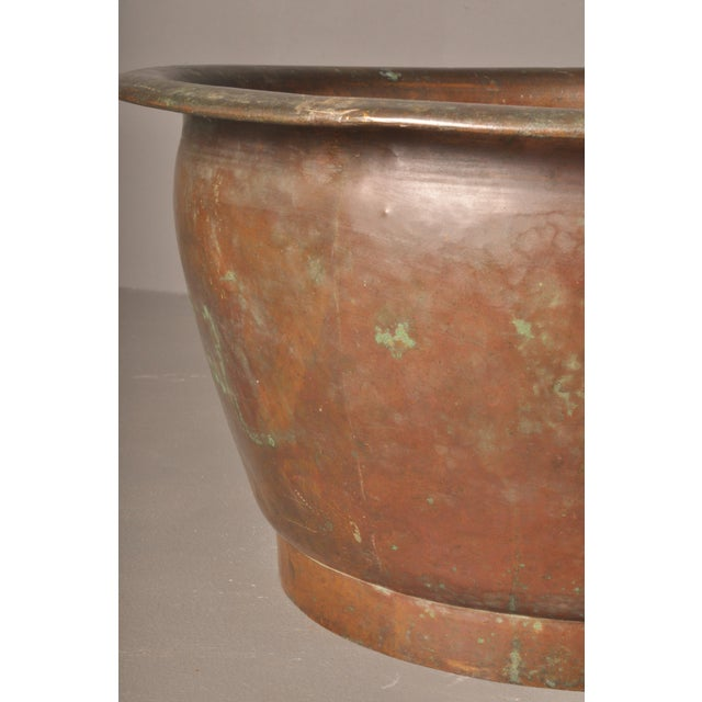 Metal Hammered Copper Pot, American- 1920s For Sale - Image 7 of 8