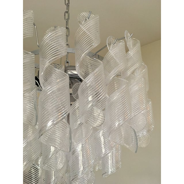"Metal Mazzega Style Murano Glass ""Spirale"" Sputnik Chandelier For Sale - Image 7 of 11"