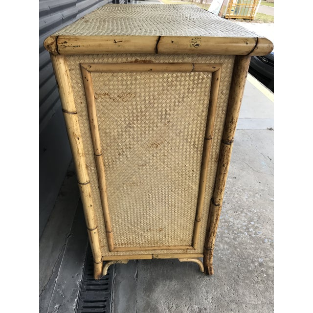Calif-asia Vintage Rattan Chest of Drawers For Sale - Image 5 of 11