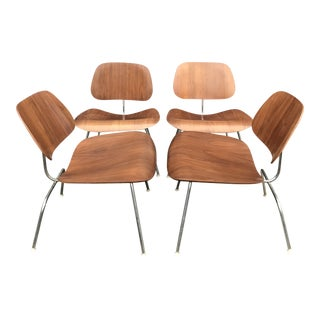 S/4 Eames Herman Miller Walnut Lcm Lounge Chair For Sale