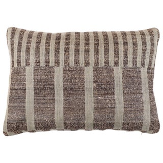 Indian Handwoven Pillow Mondrain Check For Sale
