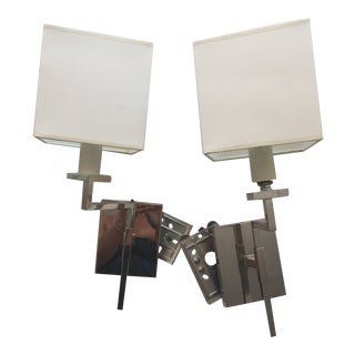 Devon Swing Arm Wall Lights - A Pair For Sale