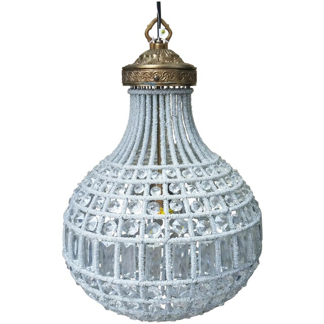 Crystal Pear-Shaped Chandelier - Image 1 of 4