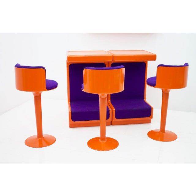 Fiberglass Bar Set by Wolfgang Feierbach, Germany 1974 For Sale - Image 4 of 10