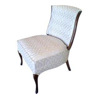 French Style Slipper Chair For Sale