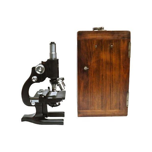 Vintage Spencer Microscope & Case - Image 1 of 6