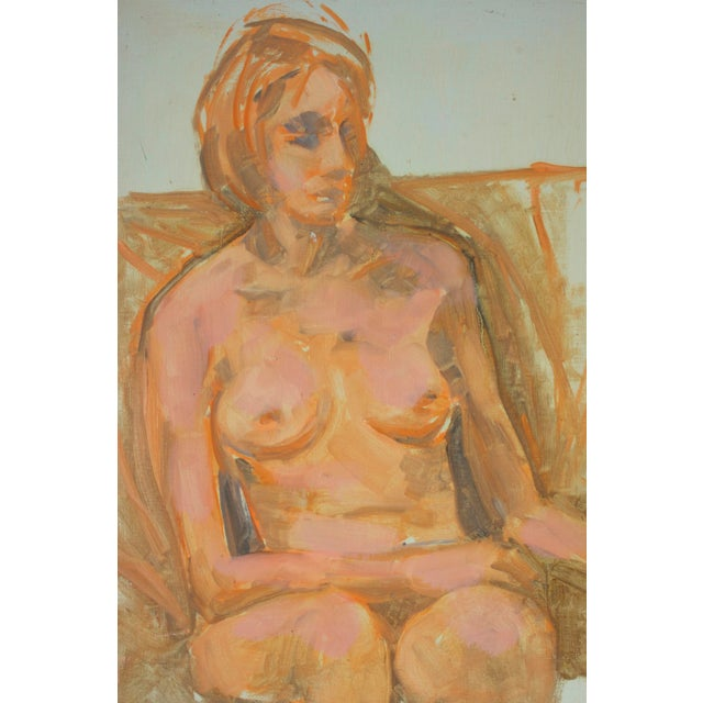 Nude Woman Portrait Paintings- Set of 2 - Image 2 of 5