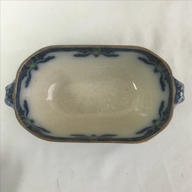 Spode Flow Blue & Polychrome Sauce Tureen - Image 5 of 9