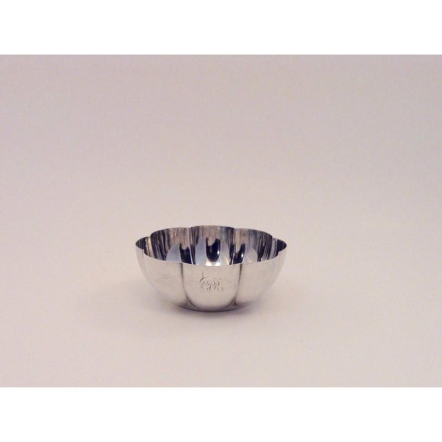 Antique Elkington & Co silver plate bowl with a fluted shape. Polished to a shine, very minimal age related wear. A couple...