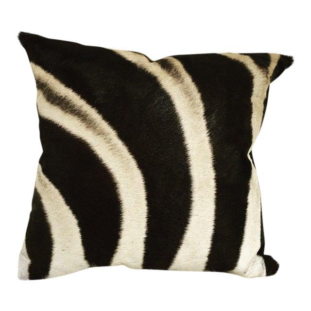 Zebra Hide Pillow For Sale