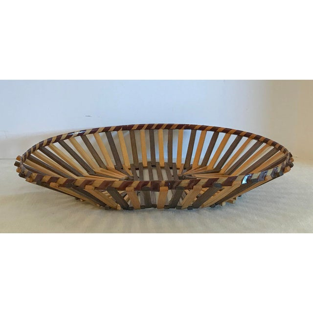 20th Century Boho Chic Two Color Stick Basket For Sale - Image 4 of 7