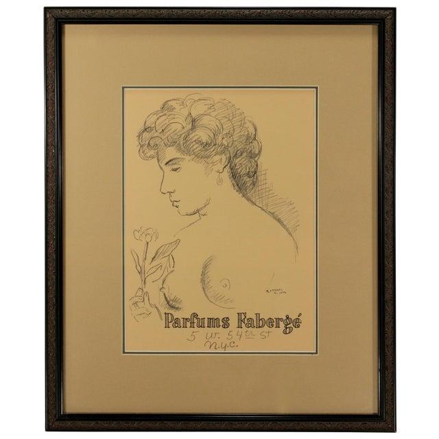 Raphael Soyer 1954 Original Print for Faberge - Image 1 of 4