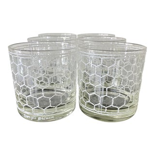 George Briard White Rope Glasses- 6 Pieces For Sale