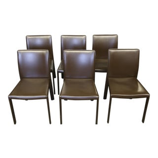 Leather Italian Chairs - Set of 6 For Sale