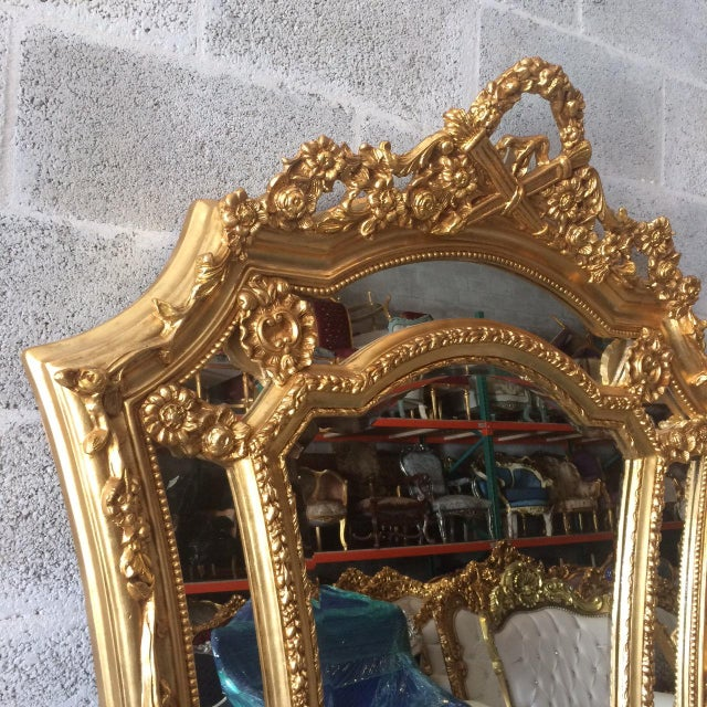 French Louis XVI Floor Mirror For Sale - Image 5 of 7