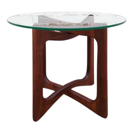 Adrian Pearsall Round Walnut Side Table - Image 1 of 5
