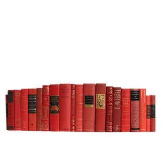 Liberal Arts Selections in Scarlet : Set of Twenty Decorative Books For Sale