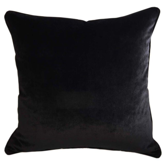 Velvet Tigre Down Feather Pillows - Set of 2 For Sale - Image 4 of 5