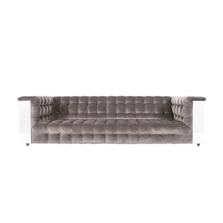 "Vintage Chrome ""Cityscape"" Sofa For Sale"