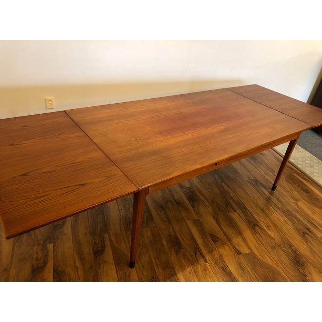 Niels Moller Large Teak Draw Leaf Dining Table by Niels Otto Møller for Jl Møller, Made in Denmark For Sale - Image 4 of 13