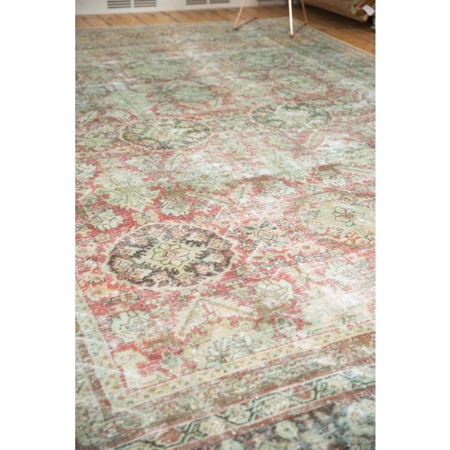 "Vintage Distressed Mahal Carpet - 10'5"" X 13'11"" For Sale - Image 9 of 13"