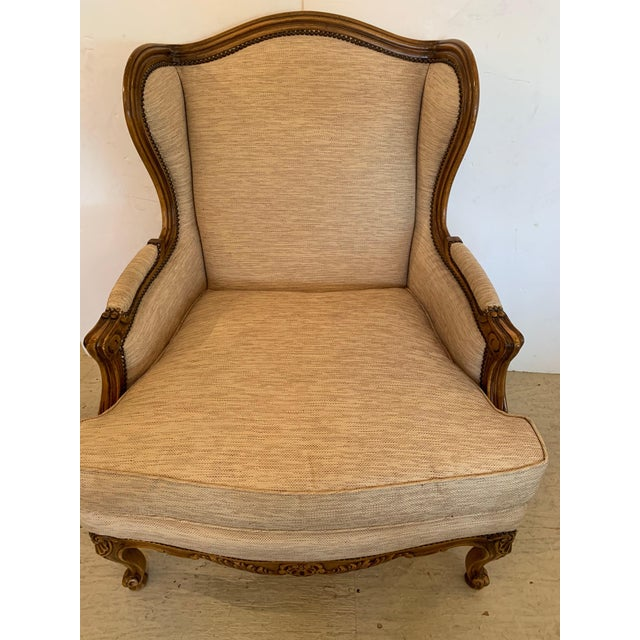 A beautifully made TRS bergere chair inspired by the classic Louis XV bergere form, this quality reproduction armchair has...